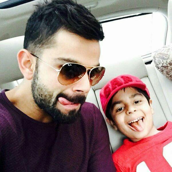 Virat with his nephew Aarav