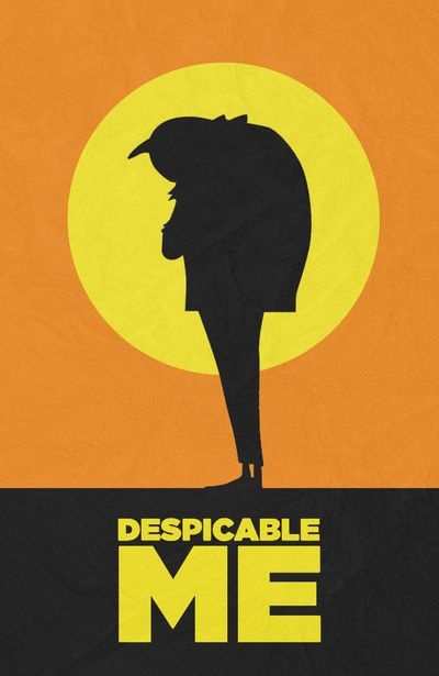 despicable me minimalist movie poster