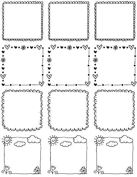 orbus templates - best 15 doodle frames border labels images on pinterest