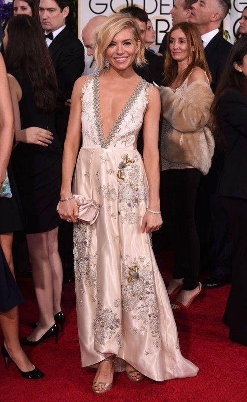 Złote Globy 2015: Sienna Miller, fot. East News