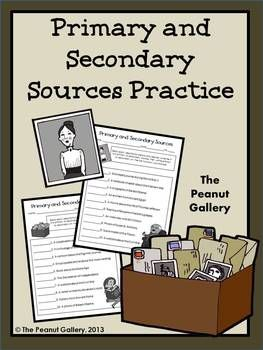 Here's a way for your students to test their knowledge of primary and secondary sources. Answer keys are provided so that students may easily self-check their work. ($)