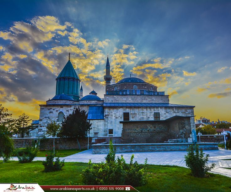 Mevlana Museum in Konya, Turkey  |  The Mevlâna Museum, located in Konya, Turkey, is the mausoleum of Jalal ad-Din Muhammad Rumi, a Persian people Sufi mystic also known as Mevlâna or Rumi.   |  Book Now: http://www.arabianexperts.co.uk/destinations/turkey/konya?utm_source=pinterest&utm_medium=social&utm_campaign=mevlana-museum-in-konya-turkey&utm_term=konya  |  #MiddleEast #Turkey #Konya #MevlanaMuseum #FlightstoKonya #ArabianExperts