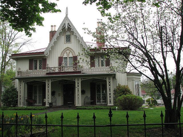 Henry Delameter House Montgomery Street Rhinebeck New York Built In 1844 By Architect Alexander Jackson Davis A Gothic Revival Style