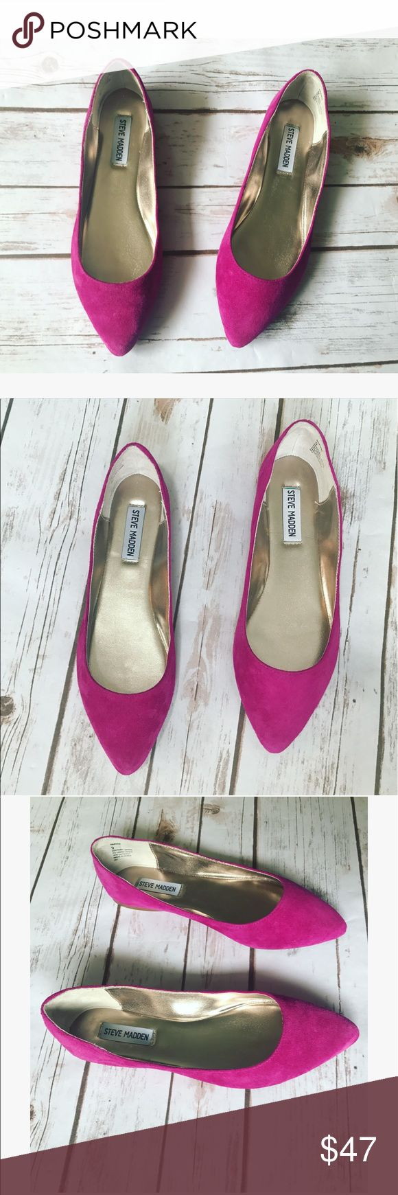 Beautiful Steve Madden flats   Beautiful Steve Madden flats in gorgeous hot pink color and size 9, these are so adorable and great for summer, new never worn  Steve Madden Shoes Flats & Loafers