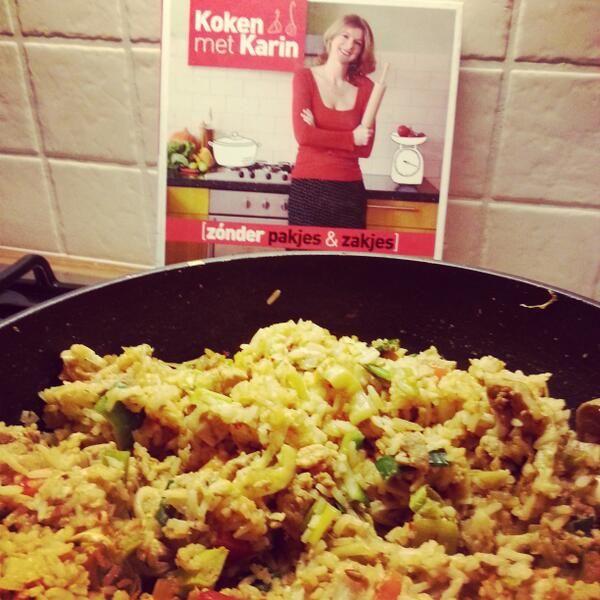 De nasi uit Koken met Karin Zonder pakjes & Zakjes 1, maar dan à la blogster Foodalicious.