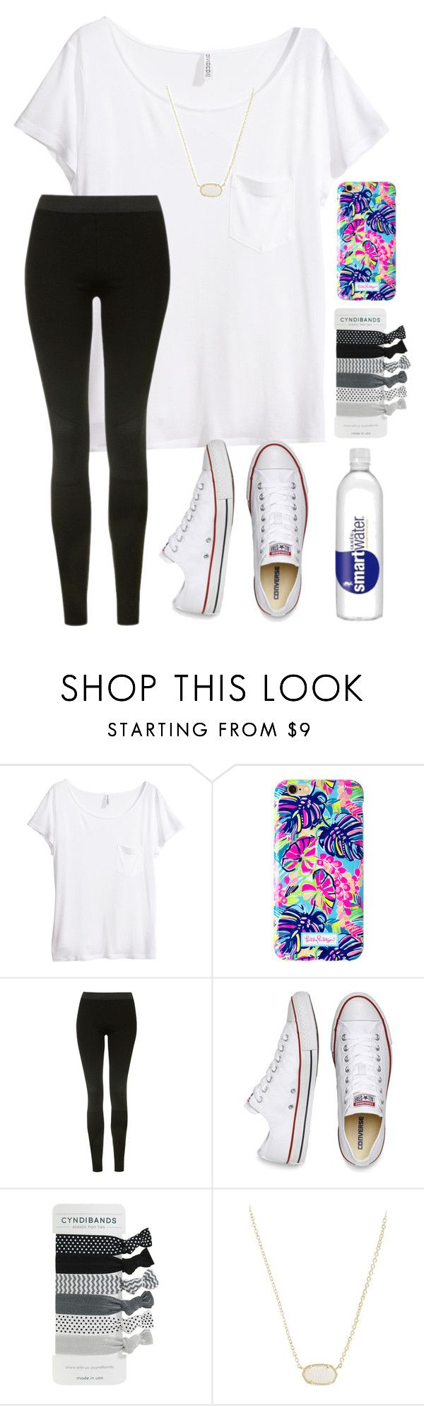 """""""2- second day of school"""" by nc-preppy-living ❤ liked on Polyvore featuring H&M, Lilly Pulitzer, Topshop, Converse, Kendra Scott and matticontest2"""