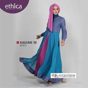 Baju Dress Gamis Pesta Ethica KAGUMI 39 BIRU