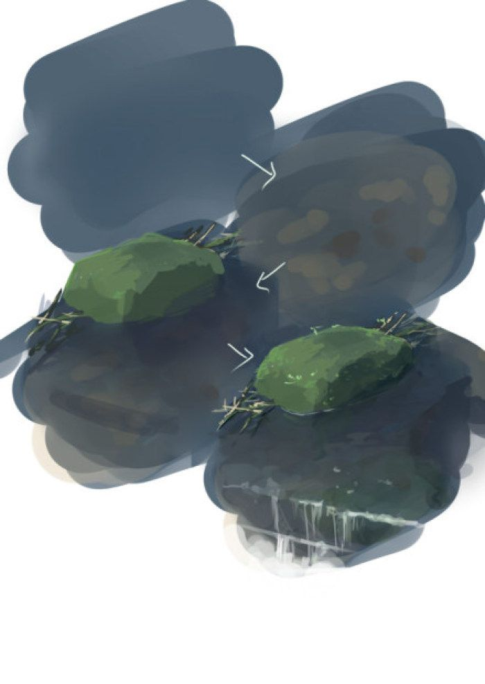 Камушек, камень в воде Rock, stone in the woter, river