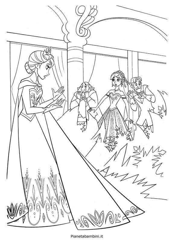 72 Disegni Da Colorare Di Frozen Il Regno Di Ghiaccio Festa