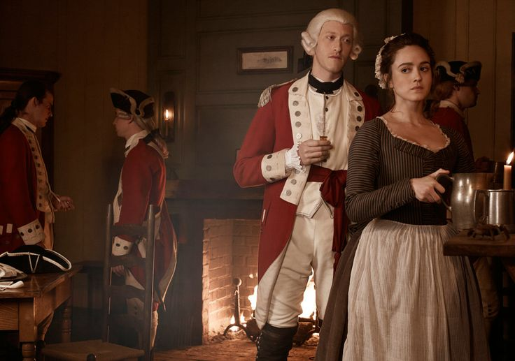 TURN Season 1 Cast Photos - Samuel Roukin (John Graves Simcoe) and Heather Lind (Anna Strong)  Photo by Frank Ockenfels 3/AMC