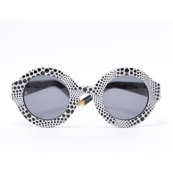 Pre-Owned Louis Vuitton Kusama Rond Dots Sunglasses ($799) ❤ liked on Polyvore featuring accessories, eyewear, sunglasses, glasses, louis vuitton, black, louis vuitton eyewear, louis vuitton sunglasses, polka dot glasses and dot sunglasses