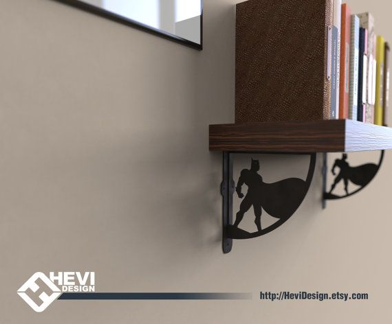 2x Batman shelf bracket 2 brackets for complete shelf