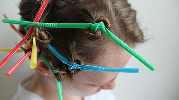 Er du i humør til en midlertidig ny frisure, kan du lave alt fra bløde krøller til mikrofonhår kun ved hjælp af sugerør.