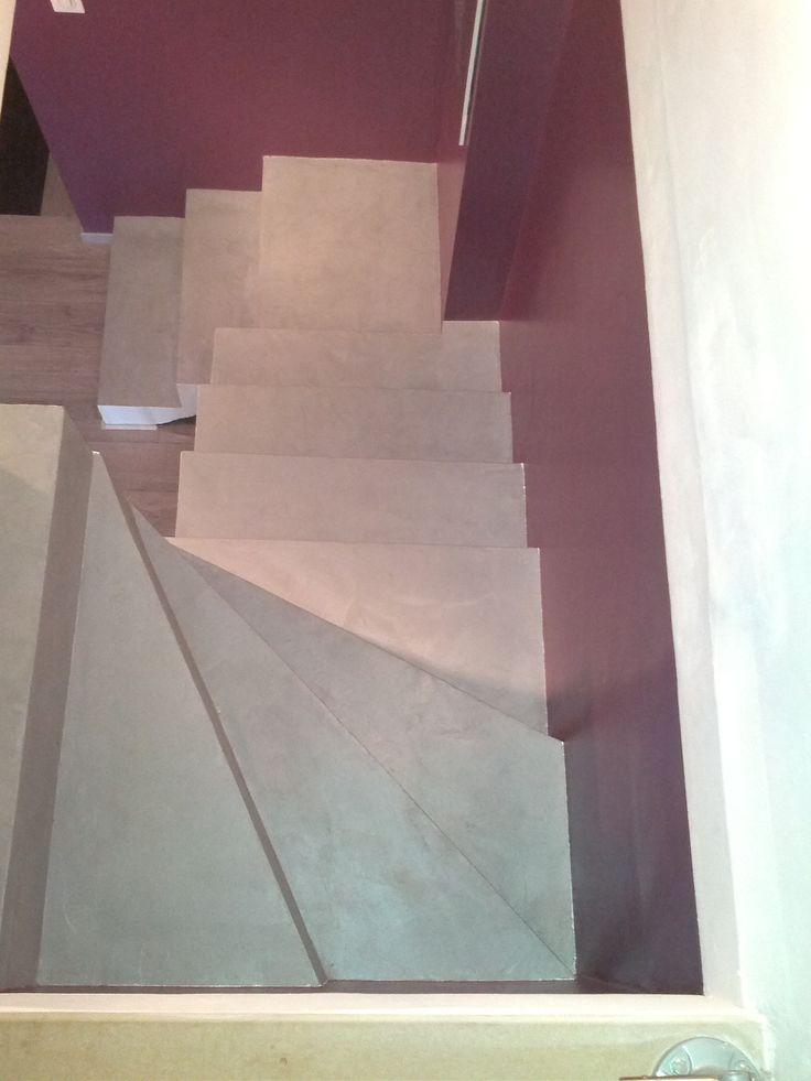B.CC - Escalier en béton ciré  (couleur Gris acier/MA's)