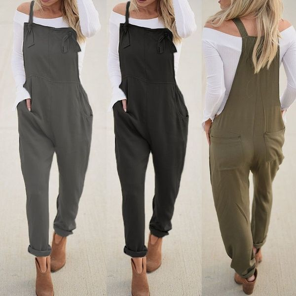 Womens Casual Sleeveless Cotton Linen Jumpsuits Solid Loose Bib Rompers Lightweight Breathable Wied Leg Shorts Summer Lounge Beach Playsuit with Pockets