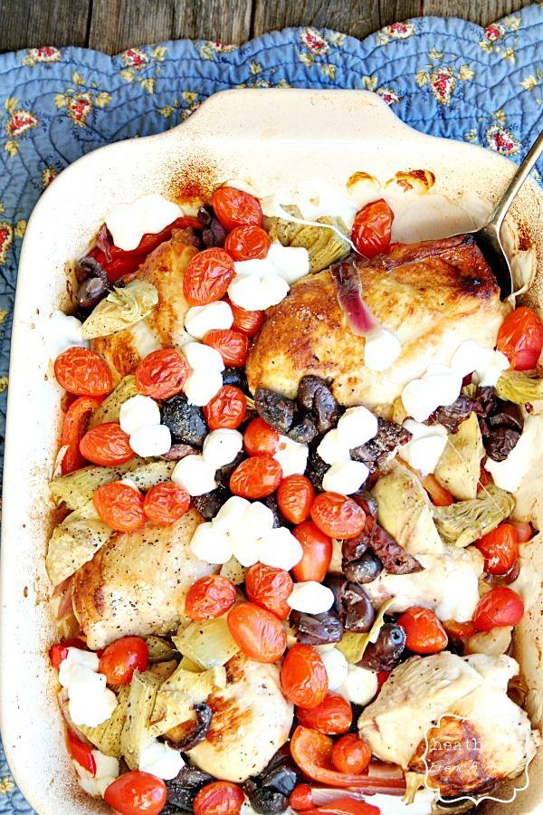 Mediterranean Baked Chicken - Heather's French Press