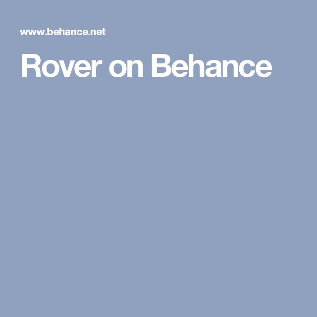Rover on Behance