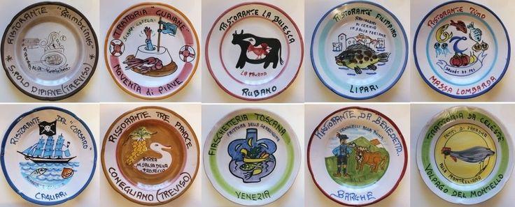 Piatti del buon ricordo - anni 70 / 80 / 90 - lotto 10 piatti 16B - Piatti decorativi Ceramica Solimene Vietri - Italia di Piattidelbuonricordo su Etsy