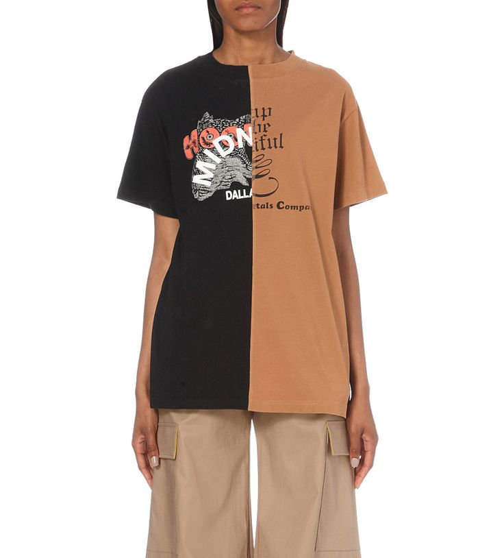 OFF-WHITE C/O VIRGIL ABLOH Midnight Studios Reassembled cotton-jersey t-shirt
