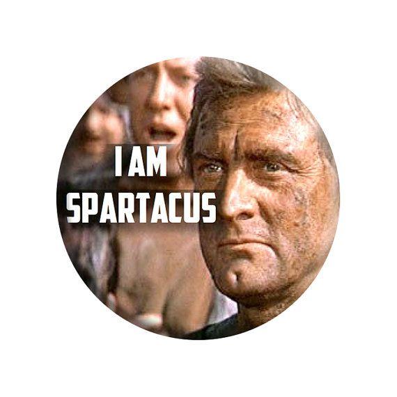 Spartacus 1960 handmade quote badge