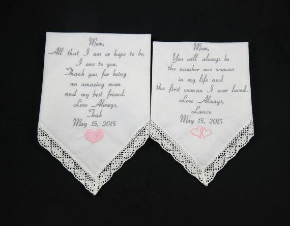 Wedding Handkerchiefs For The Family: 191 Best Images About Personalized Embroidered Wedding