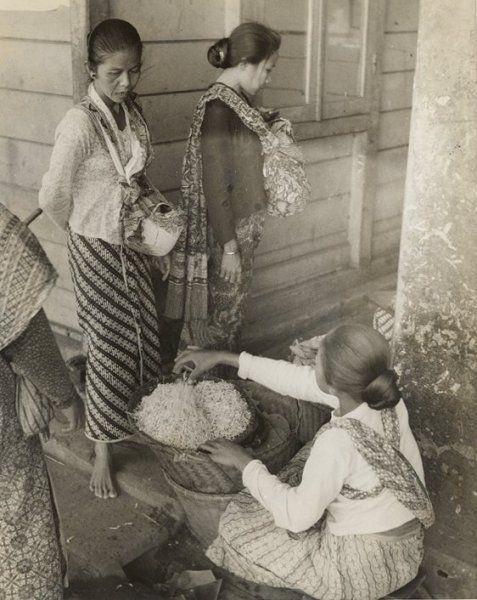 Straatverkoop, Surabaya, Java, Indonesië (1933)