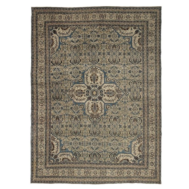 Antique Tabriz Wool Rug - 9'x12'4""