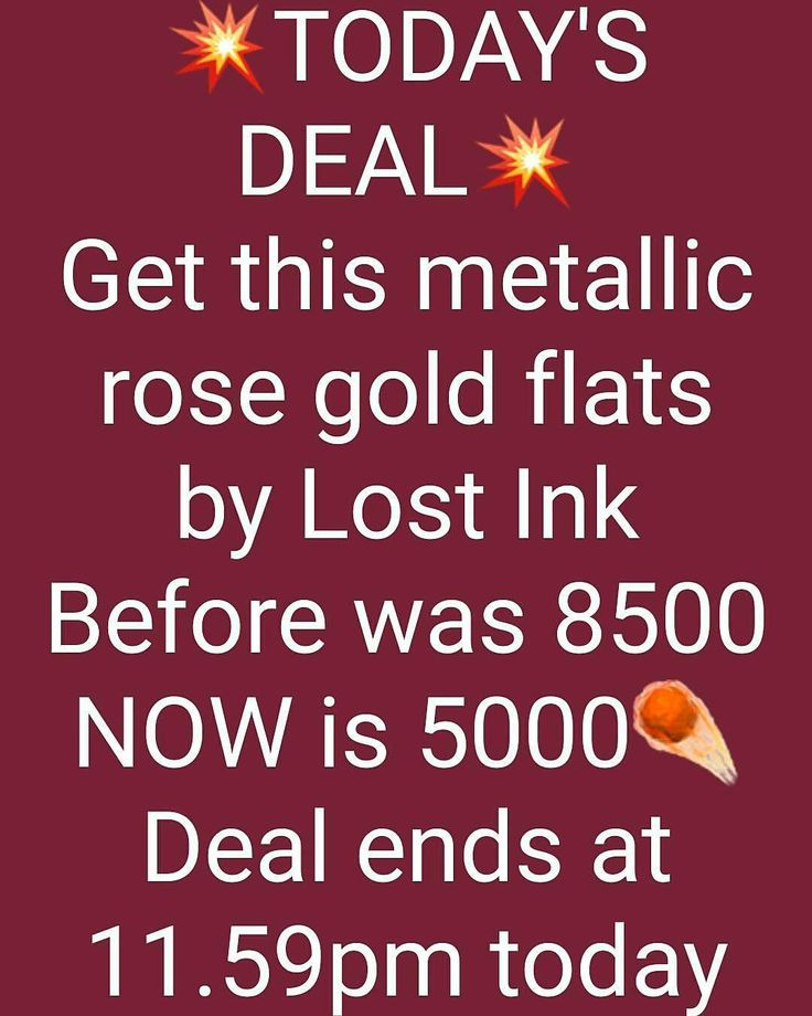 Today's deal Get the metallic rose gold flats by Lost Ink now for 5000NGN only. .Deal ends today 11:59pm. Make use of this opportunity and buy good quality for less. . Pre-Order our December collections Now(arriving soon) . Shop our new arrivals this week from size 0 - 18 and also pre order our amazing December collections. We sell quality and high fashion brands . . #fashionstatement #fashionoutfits #fashion #fashionblogger #fashionstylists #bankemelange #asoebibella #lagosbrand #makeup…