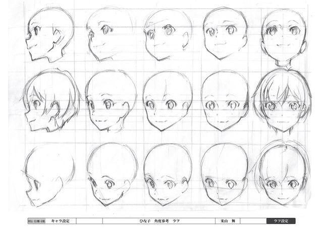 Как рисовать лицо аниме