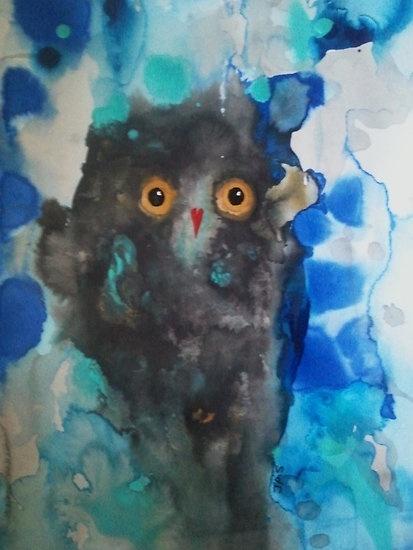 'Owl Eyes 10' by Julie Sutherland