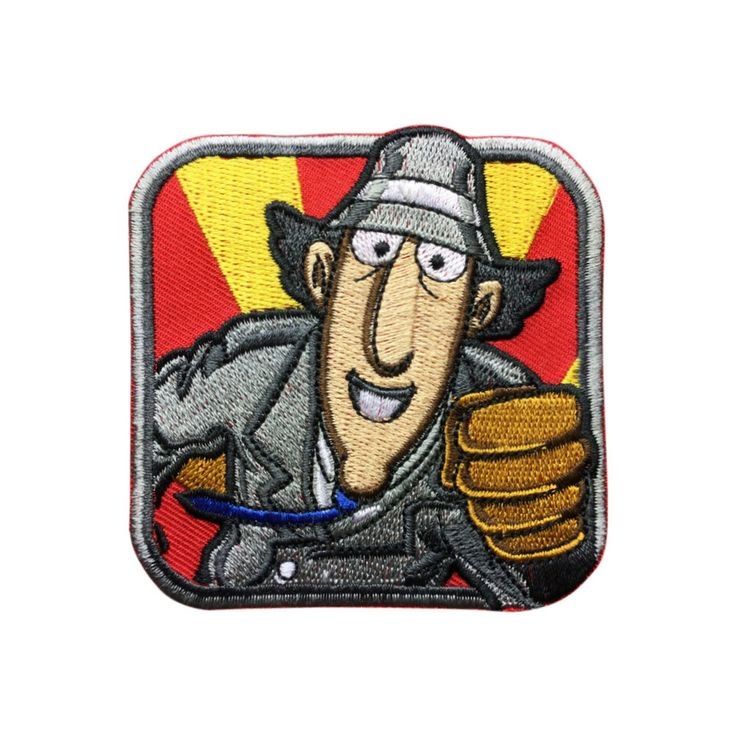 Inspector Gadget patch Hat patches Embroidered Iron On Patches sew on patches Cartoon patch meet you on www.Fleckenworld.com