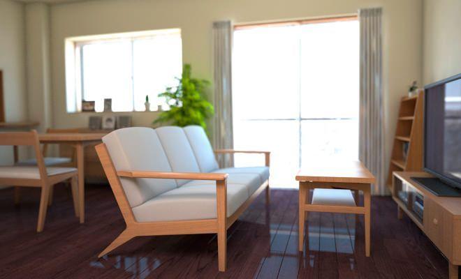 根強い人気を誇る、ダークブラウン色のリビング床に似合うインテリアとは? 数種類シミュレーションしてみましたので、コーディネートの参考にしてください。 ダークブラウンの床にモダン家具をコーディネートした例です。 シックでと …