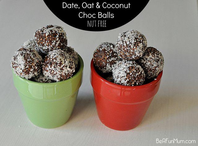 Date, Oat & Coconut Choc Balls (nut free) – Be a Fun Mum