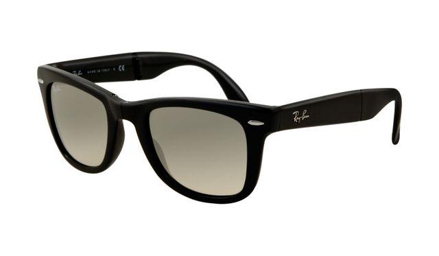 Ray Ban RB4105 Folding Wayfarer Sunglasses Black Frame Crystal G [Rayban145] - $18.20 : ray ban glasses aviator,black sunglasses for men,ray ban sunglasses wikipedia,free ray ban glasses,ray ban sunglasses women, The Art of E-commerce