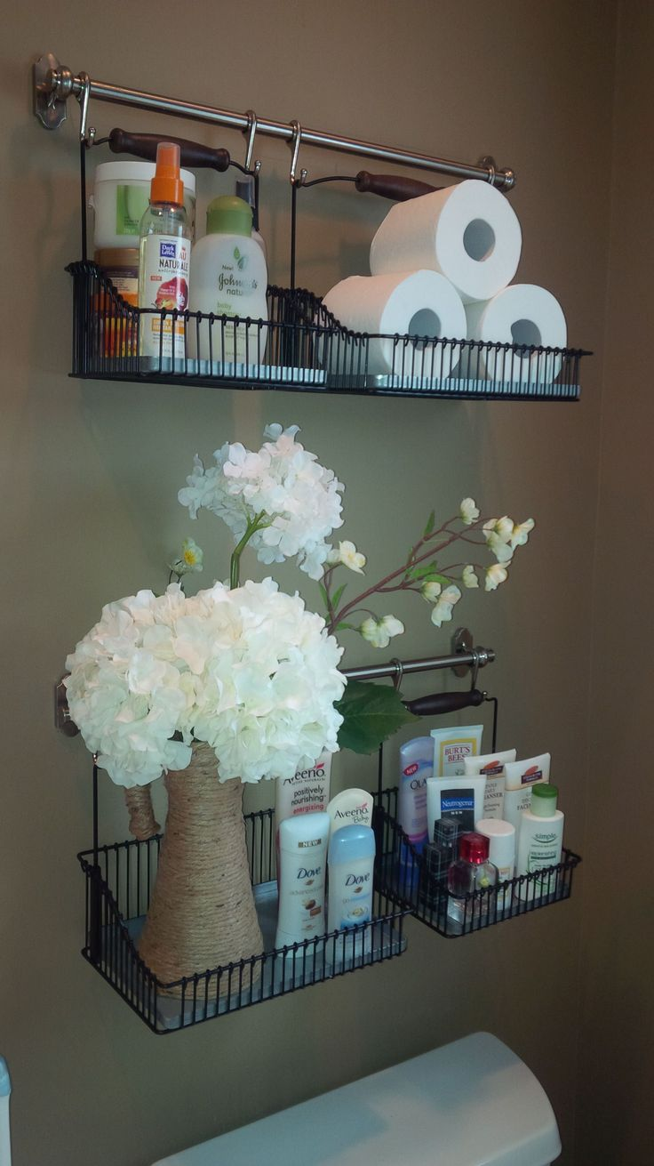 Ikea hack. New shelving system in the bathroom #DIYHomeDecorIkea
