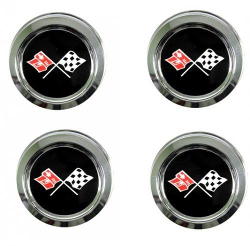 1976-1979 C3 Corvette Wheels Reproduction Center Caps Package Our C3 Corvette Wheels Reproduction Center Caps Package are sure to get peoples attention! Our package includes four pieces and features the 1976-1979 C3 Corvette flags pace car logo. These center caps are exact replicas of the original pieces. Our 1976-1979 C3 wheels center caps are official GM Restoration Licensed Parts.