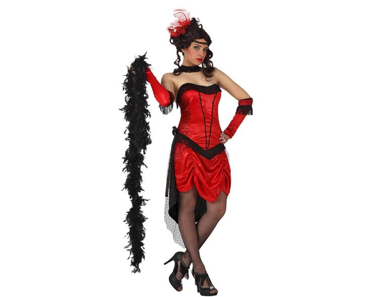 Achetez déguisement cabaret rouge et noir sur www.deguizeo.com