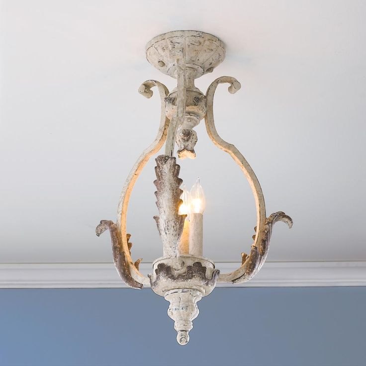 Shabby Cottage Ceiling Lantern (Convertible) chic