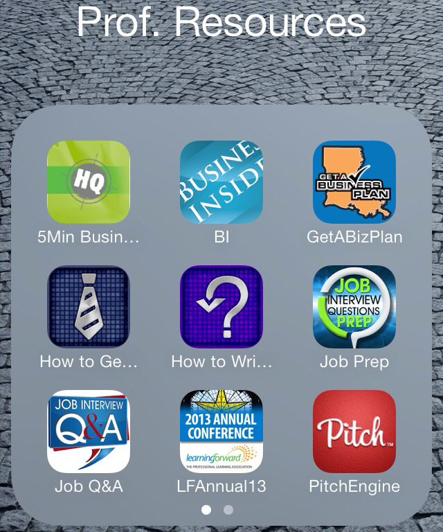 Mobile Apps for Professional Development