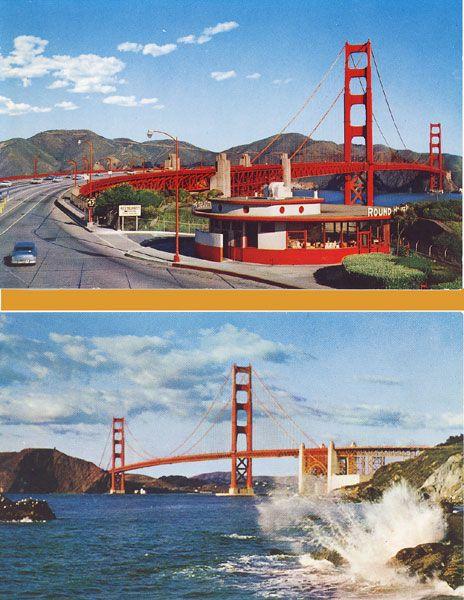 """Famous Round House Restaurant at Toll Plaza - Golden Gate Bridge, San Francisco, Calif."" #sanfrancisco"