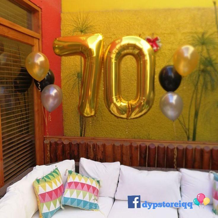 Globos de números con helio, helium balloons numbers