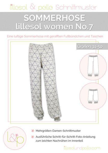 Röcke & Hosen - Papierschnitt Lillesol&Pelle Sommerhose No 7 - ein Designerstück von brinas-welt bei DaWanda