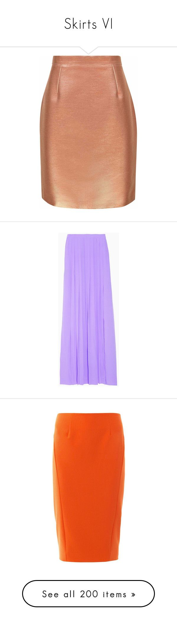 """""""Skirts VI"""" by caili ❤ liked on Polyvore featuring skirts, copper, metallic skirt, red high waisted skirt, red mini skirt, reiss skirts, high rise skirts, bottoms, maxi skirts and purple"""