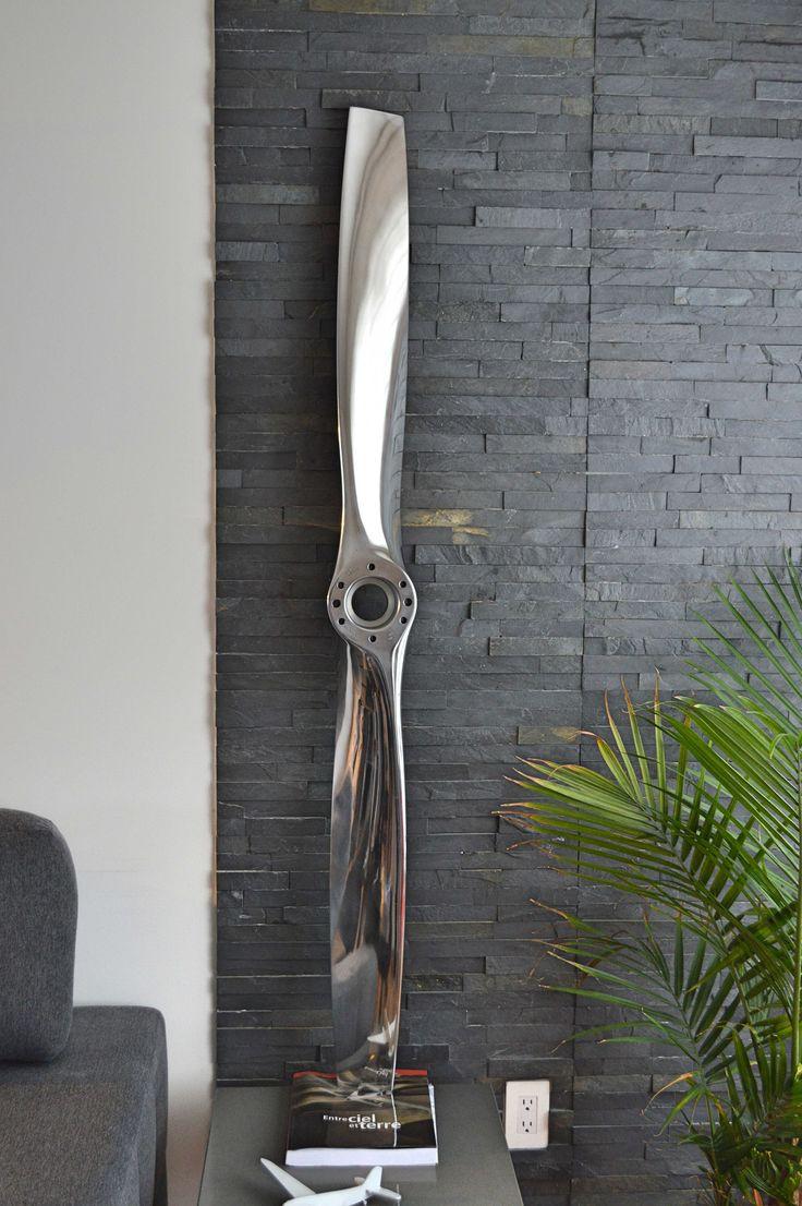 #Sensenich #fixpitch #Cessna #polished #blade #pale #hélice #propeller #airplane #avion #aviation #deco #art #miroir #mirror #interior #interieur #gift #design #industrial #industriel #cadeau   Sensenich Fix Pitch 2 Bladed polished airplane propeller off a Cessna 152