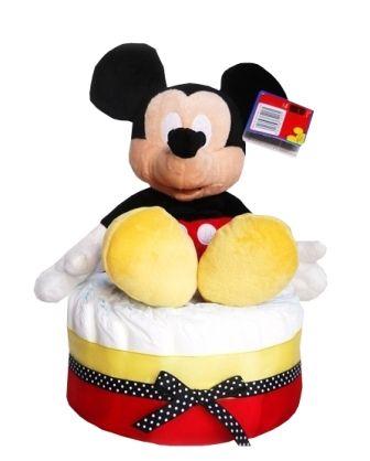 Erkek Bebek Hediyesi-Mickey Mouse Bezpasta. En güzel Bebek Doğum hediyeleri www.bezpastaci.com da