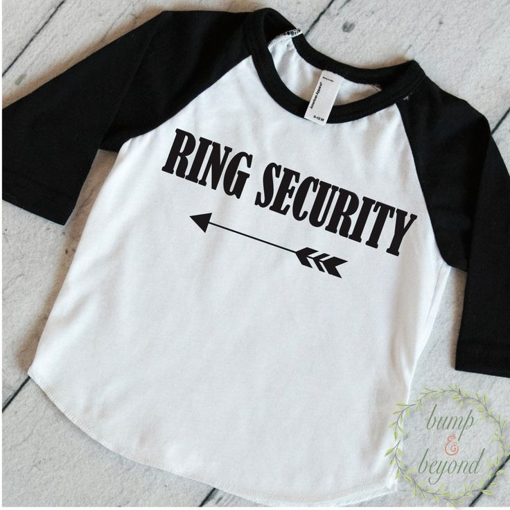 Ring Bearer Shirt, Ring Security - This adorable shirt makes a great wedding rehearsal outfit for your ring bearer! We at Bump and Beyond Designs love to help you celebrate life's precious moments! Th