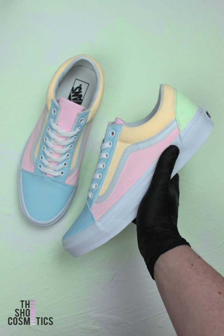 1386314f459435 Explore our multi colored Vans old skool custom sneakers. Looking for multi colored  Vans
