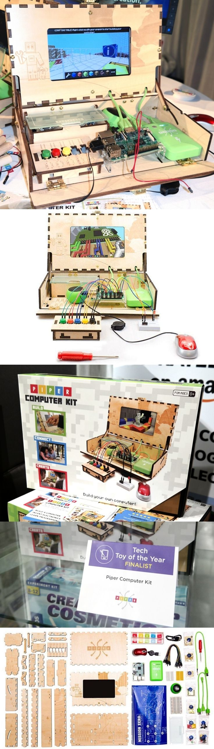Not only does the Piper Computer Kit teach kids coding and other STEM skills as they build a functional Raspberry Pi-based computer, but the wooden case is quite the conversation piece. The $239 kit comes with instructional software which doubles as a challenging game and all necessary parts, including a 7-inch color LCD. The Piper Computer Kit is a Toy of the Year Finalist in the tech category for the 2018 North American International Toy Fair in New York. CLICK THE PIC for more…