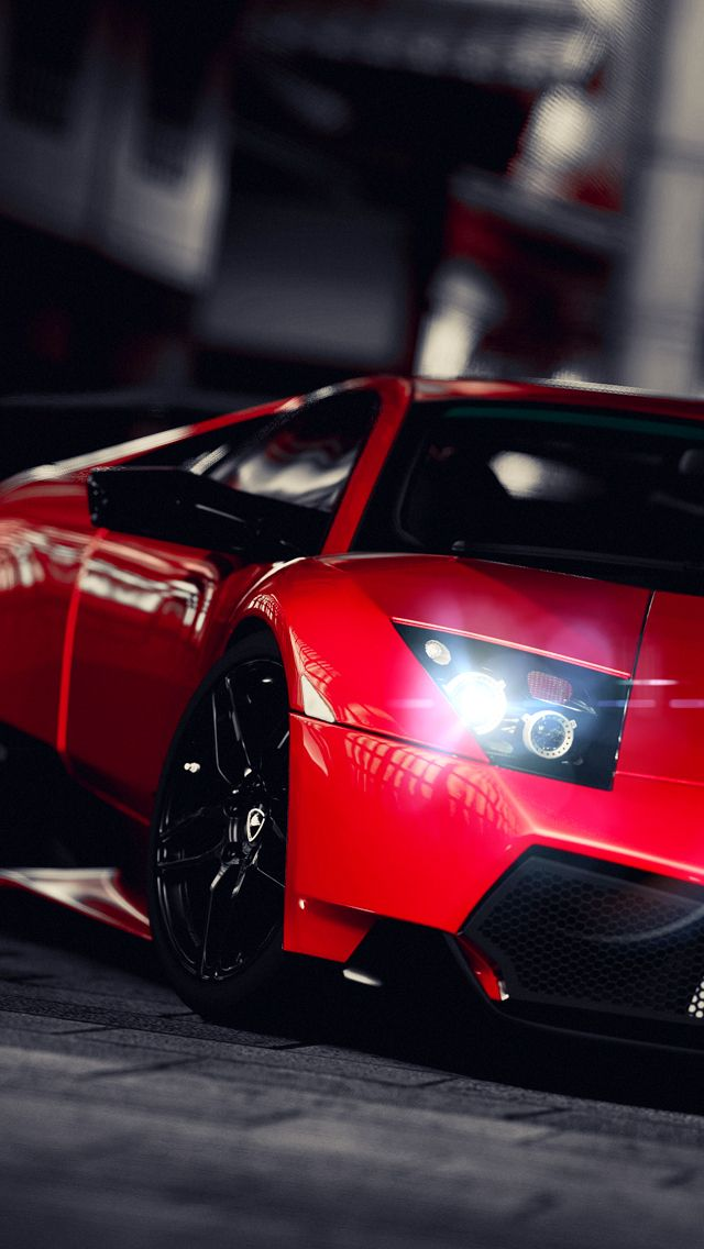 Iphone 5 Wallpaper. Red Lamborghini.
