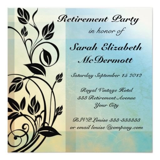40 best retirement party invites images on pinterest invites elegant vintage retirement party invitation stopboris Gallery